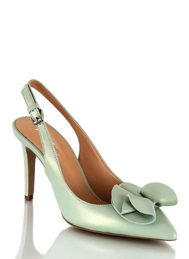 Poletto İnce Topuklu Ayakkabı Yeşil